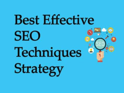 Best Effective SEO Techniques Strategy