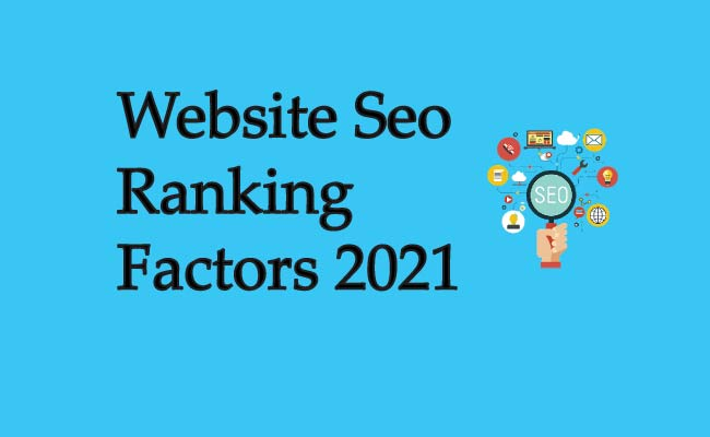 Website Seo Ranking Factors 2021